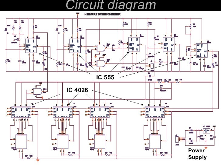 Speed checkers for highways circuit diagram ic 4026 ic 555 power supply ccuart Gallery