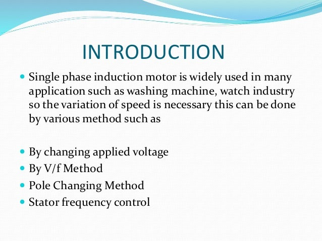 Speed Control 1 Phase I M Motor By Integral Ckt