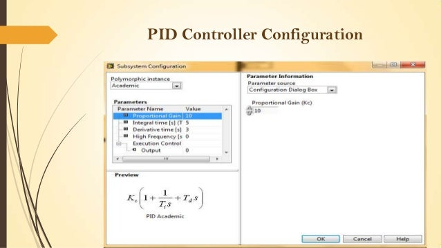 PID Controller Configuration