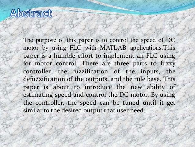 Speed con trol of dc motor Slide 2