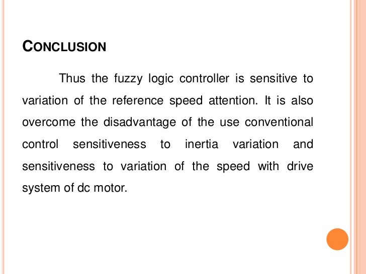 Speed Control Of Dc Motor By Fuzzy Controller