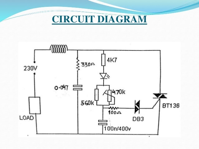 Single phase induction motor speed control circuit diagram for Speed control of ac motor