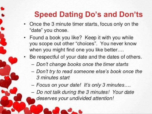 de doen en donts van Speed Dating