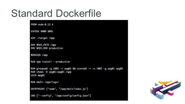 Standard Dockerfile