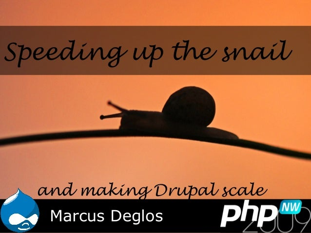 Speeding up the snail Marcus Deglos and making Drupal scale