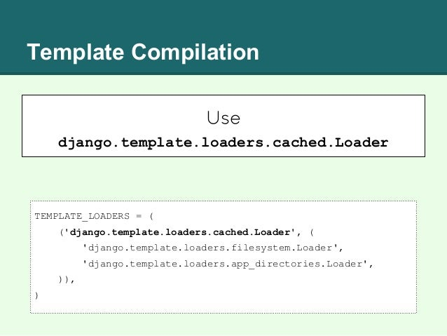 django template comment - speed is a feature pyconar 2014