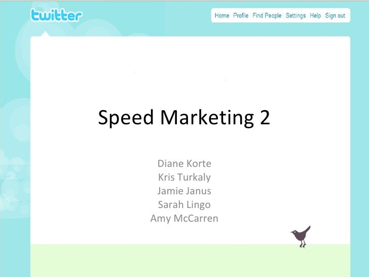 Speed Marketing 2        Diane Korte       Kris Turkaly       Jamie Janus       Sarah Lingo      Amy McCarren