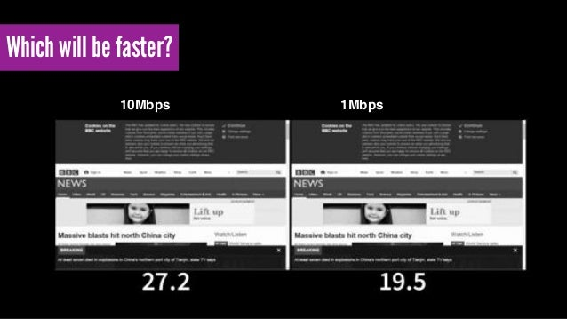 Which will be faster? 10Mbps 1Mbps/ 280ms RTT / 28ms RTT