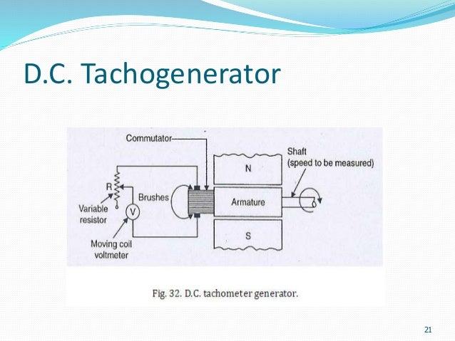 speed measurement tachometer d c tachogenerator 21