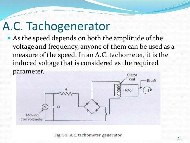 speed measurement tachometer a c tachogenerator