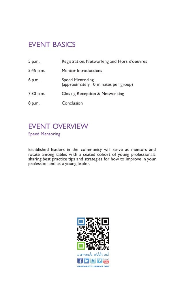 Speed Mentoring Event Program