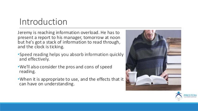 Introduction Jeremy is reaching information overload. He has to present a report to his manager, tomorrow at noon but he's...