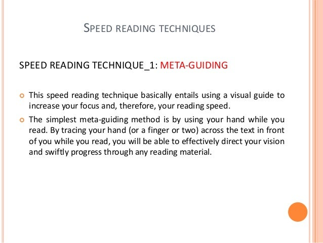 SPEED READING TECHNIQUE _3: GETTING RID OF REGRESSION AND SUB-VOCALIZATION  The truth is that we have often read it perfe...