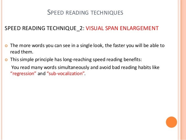SPEED READING TECHNIQUE_4: VISUALIZATION AND CLUMPING  For instance, if you were to read the phrase I love you you take a...