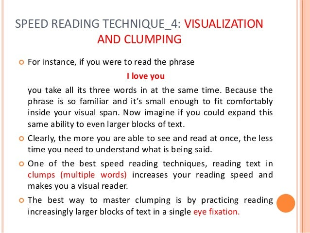 SPEED READING TECHNIQUE_6: LITTLE CHANGES THAT MAKE BIG DIFFERENCES Here is a selection of some useful tips that can help ...