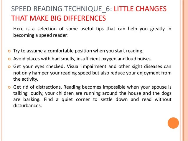 Speed Reading and Understanding More