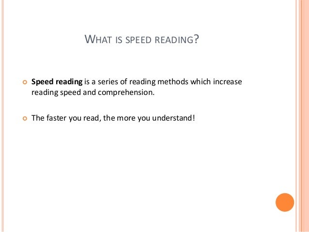 THE HISTORY OF THE SPEED READING  The history of the speed reading begins with the studies of Dr. Samuel Renshaw (1892 – ...
