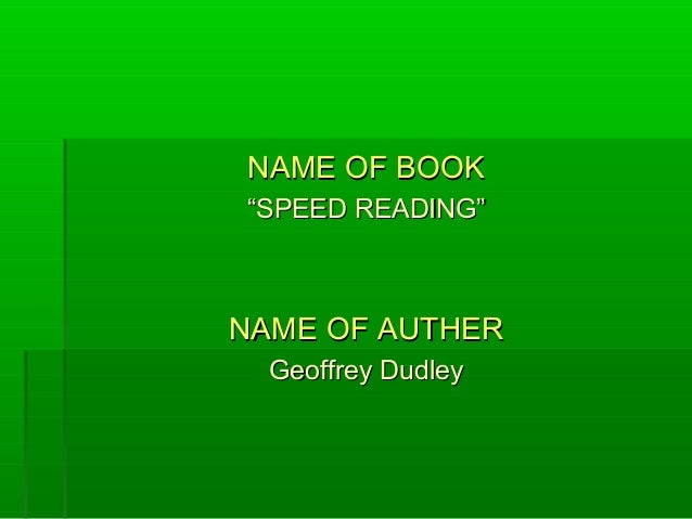 Speed reading ppt Slide 3