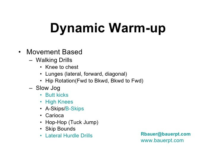 Gameplan For Success Speed Training Dynamic Warm Up