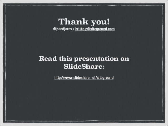 Need for Speed - Gear Up Your WordPress slideshare - 웹