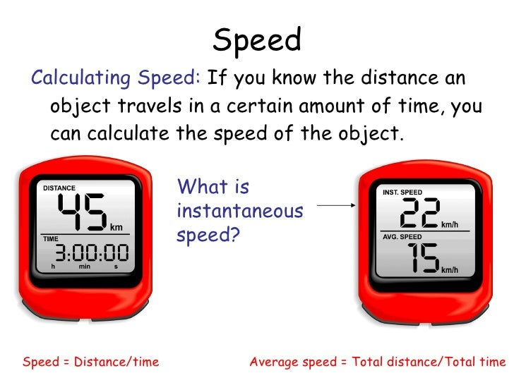 speed acceleration and velocity Speed speed is defined as a measure of the distance an object travels in a given length of time the speed of an object can be determined from the equation below.