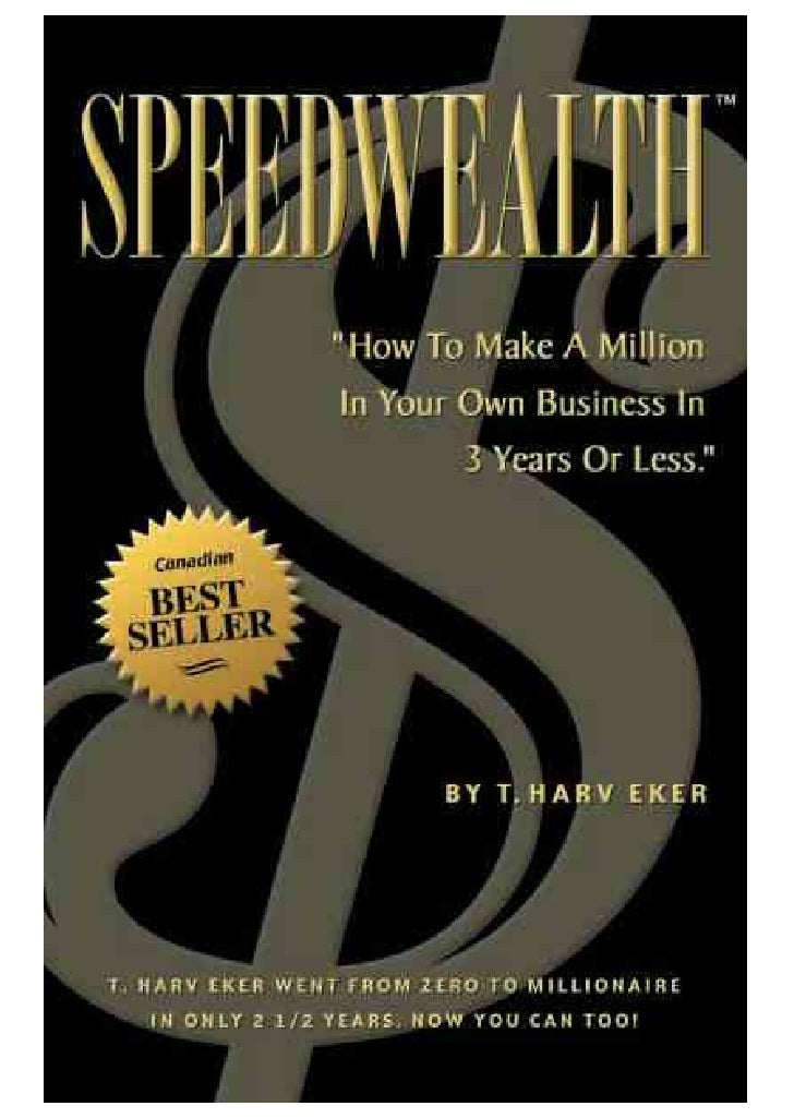 Conditional Redistribution Rights Welcome to the best selling book, SpeedWealth™, from internationally renowned author and...