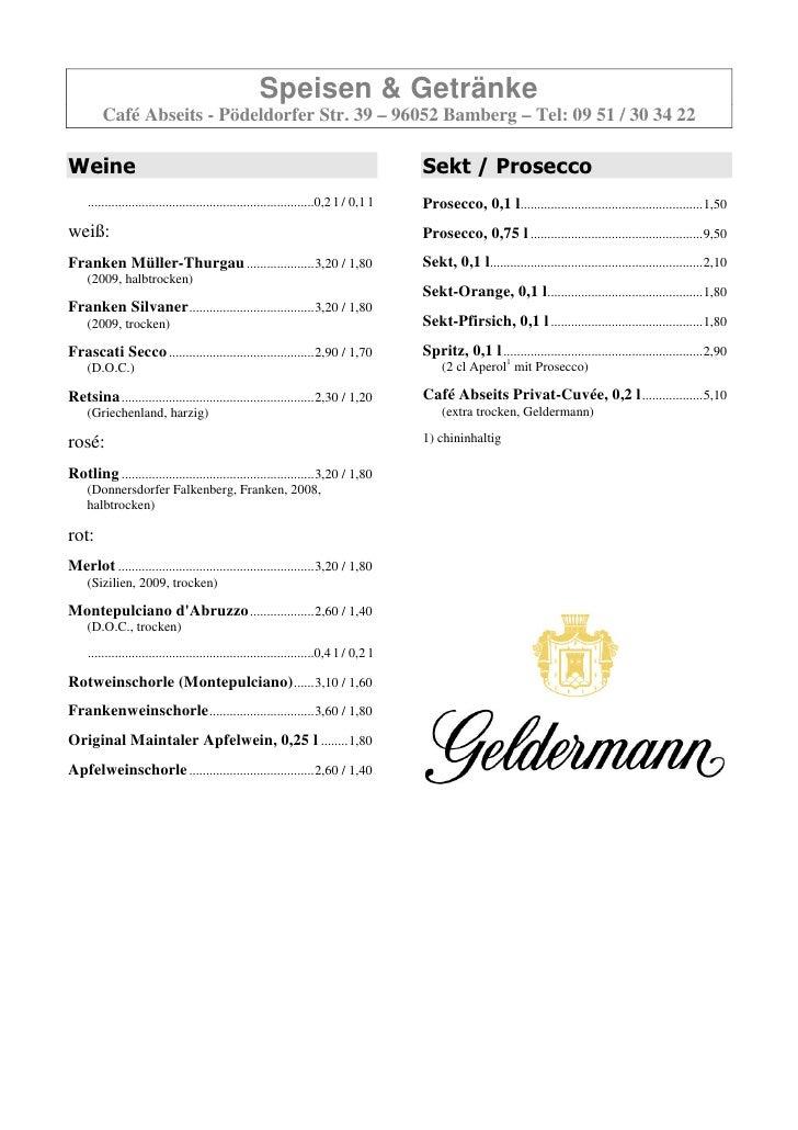 Cafe Mozart Schweinfurt Speisekarte