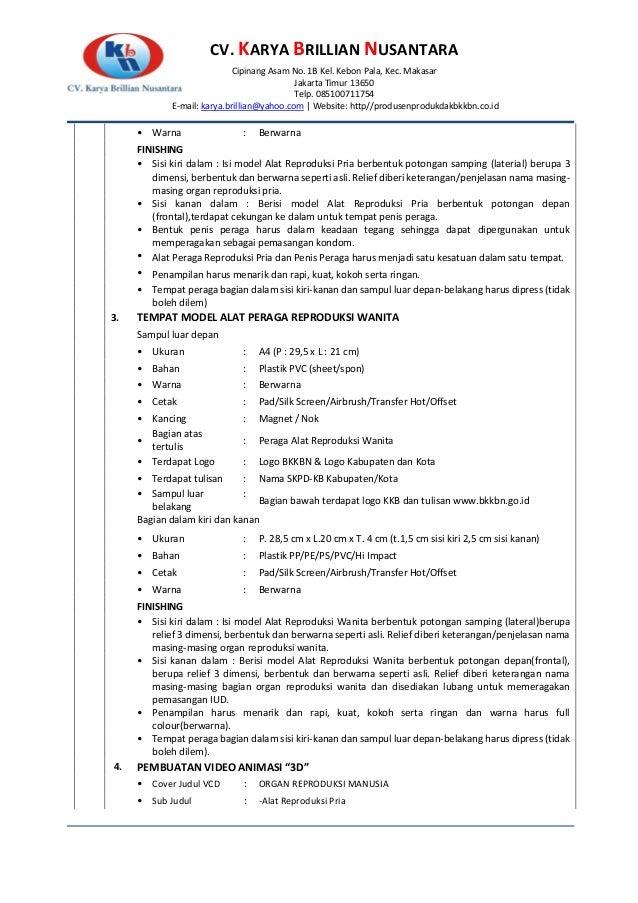 CV. KARYA BRILLIAN NUSANTARA Cipinang Asam No. 1B Kel. Kebon Pala, Kec. Makasar Jakarta Timur 13650 Telp. 085100711754 E-m...
