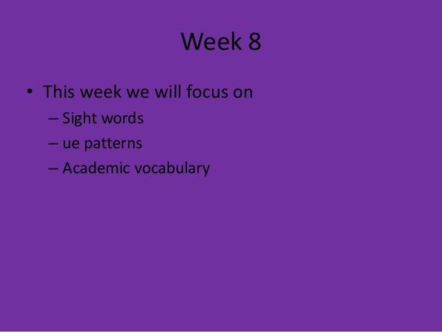 Spelling Week 8