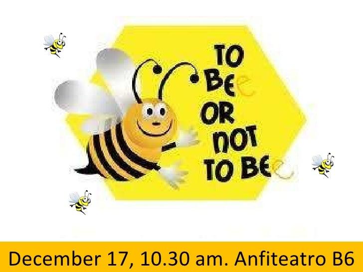 December 17, 10.30 am. Anfiteatro B6