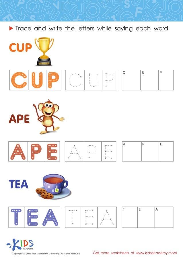 spelling worksheets for preschool and kindergarten. Black Bedroom Furniture Sets. Home Design Ideas