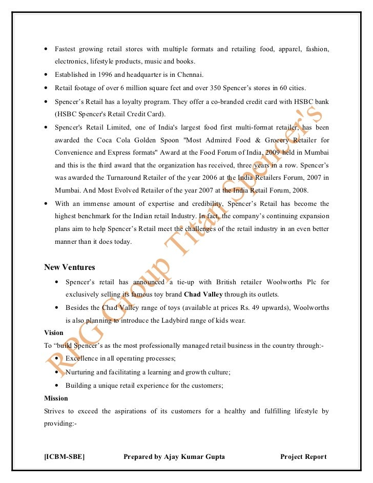 project report on retail Introduction to retail industry:  download retail management project download project:  final year project report.