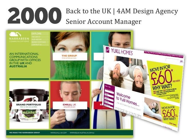 Back to the UK   4AM Design AgencySenior Account Manager