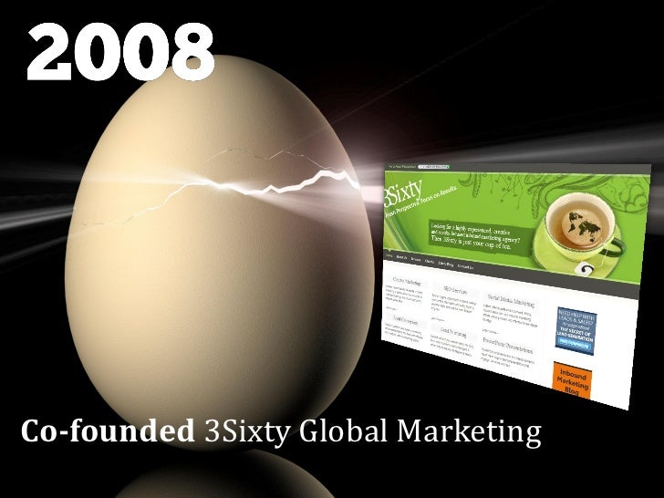Co-founded 3Sixty Global Marketing