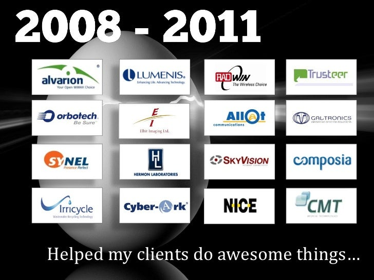 Helped my clients do awesome things…