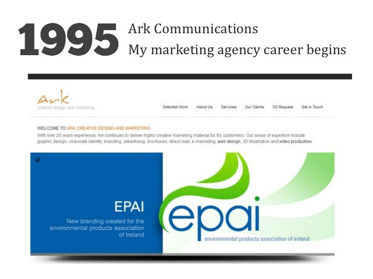 Ark CommunicationsMy marketing agency career begins