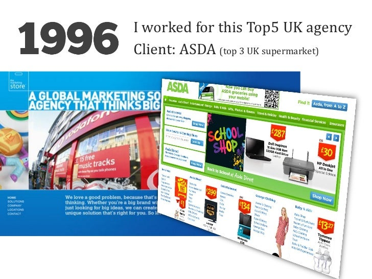 I worked for this Top5 UK agencyClient: ASDA (top 3 UK supermarket)