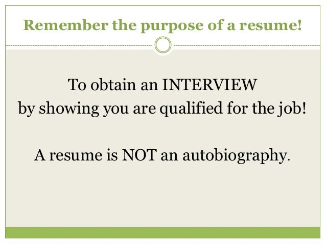Spend An Hour To Write A Resume 2014