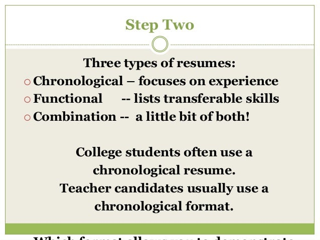 three types of resumes