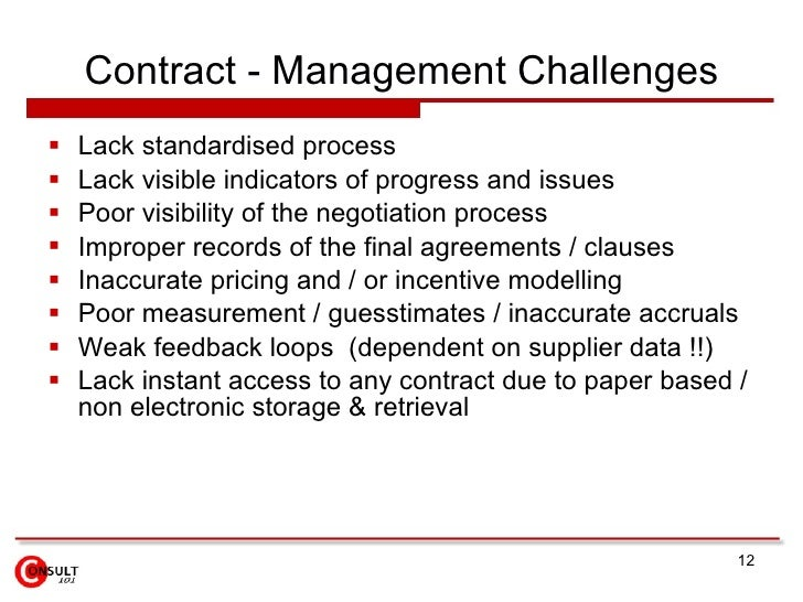 contract management issues Current issues in the negotiation of hotel management agreements  at will and regardless of the terms of the written contract1  this forced management.