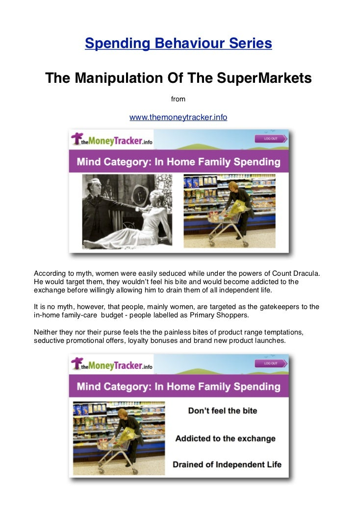Spending Behaviour Series   The Manipulation Of The SuperMarkets                                            from          ...