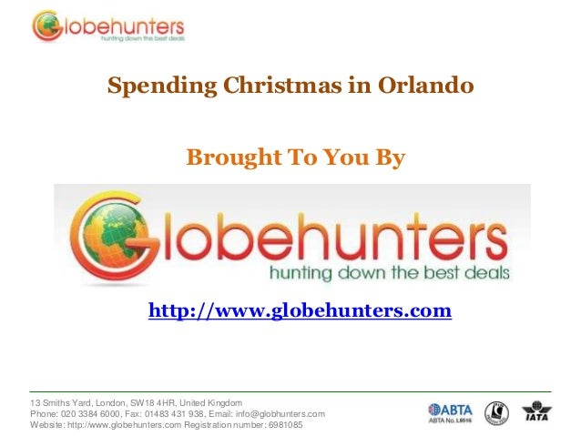 Spending Christmas in Orlando  Brought To You By  http://www.globehunters.com  13 Smiths Yard, London, SW18 4HR, United Ki...