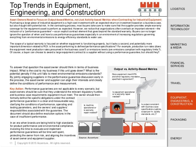 11 ENERGY EQUIPMENT, ENGINEERING, & CONSTRUCTION TRAVEL FINANCIAL SERVICES MARKETING & MEDIA LOGISTICS INFORMATION TECHNOL...