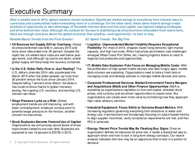3 Copyright © 2015 Accenture. All rights reserved. Executive Summary After a volatile end to 2014, global markets remain t...