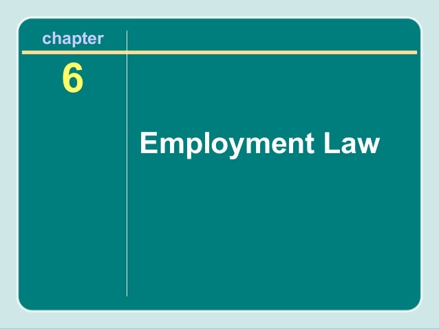 chapter  6          Employment Law