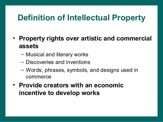Tangible and intellectual property law