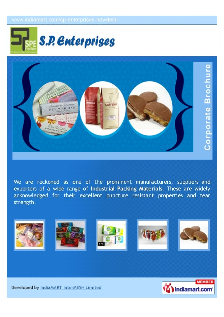 We are reckoned as one of the prominent manufacturers, suppliers andexporters of a wide range of Industrial Packing Materi...