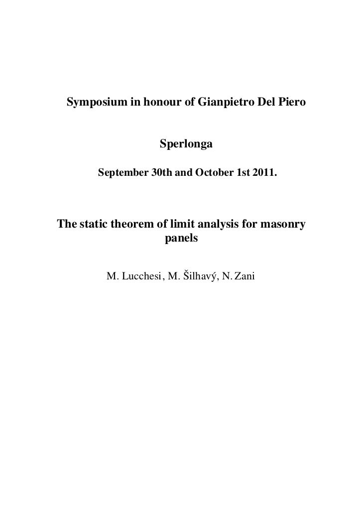 Symposium in honour of Gianpietro Del Piero                    Sperlonga        September 30th and October 1st 2011.The st...