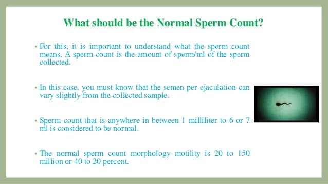 Ideal answer specimen for sperm count sorry