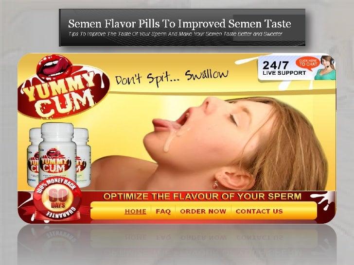 What does semen taste of